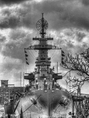Battle Ship Photograph - U.s.s. North Carolina by JC Findley