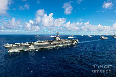 Uss Ronald Reagan Print by Celestial Images