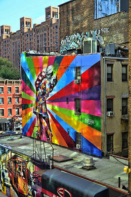Photograph - V - J Day Mural By Eduardo Kobra # 3 by Allen Beatty