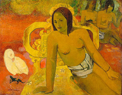 Seat Painting - Vairumati by Paul Gauguin