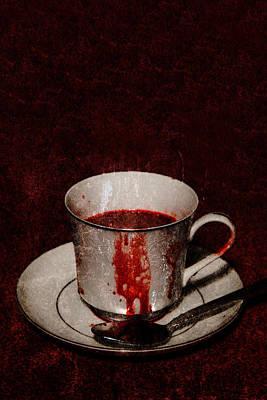 Vampires Tea Art Print by Erin Cadigan