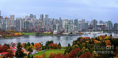Paint Photograph - Vancouver In Fall by Viktor Birkus