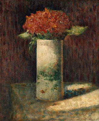 Blossom Painting - Vase Of Flowers by Georges Seurat