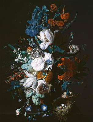 Painting - Vase With Flowers by Jan van Huysum