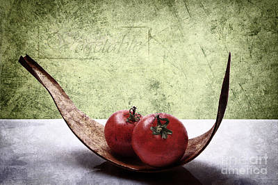 Tomato Mixed Media - Tomato by Angela Doelling AD DESIGN Photo and PhotoArt
