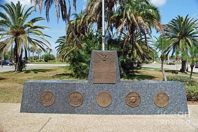 Photograph - Venice Florida War Memorial by Gary Wonning