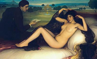 Painting - Venus Of Poetry by Julio Romero de Torres