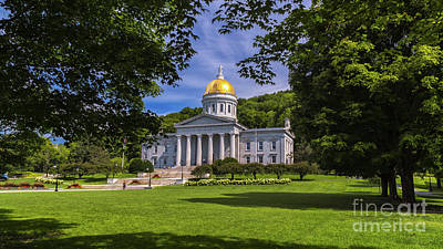 Photograph - Vermont Statehouse by Scenic Vermont Photography