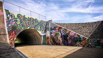 Photograph - Vernon Underpass Mural 577 by Phil Cardamone
