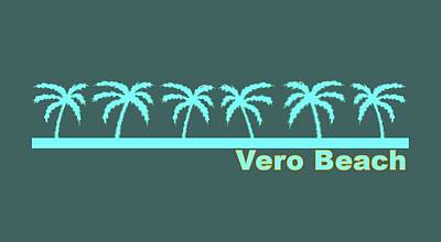 Vero Digital Art - Vero Beach by Brian's T-shirts