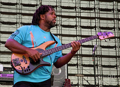 Victor Wooten Photograph - Victor Wooten With Bela Fleck And The Flecktones At Bonnaroo 2011 by David Oppenheimer