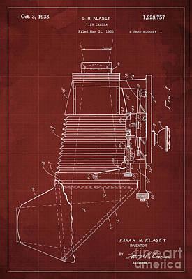 View Camera Patent Year 1930 Art Print