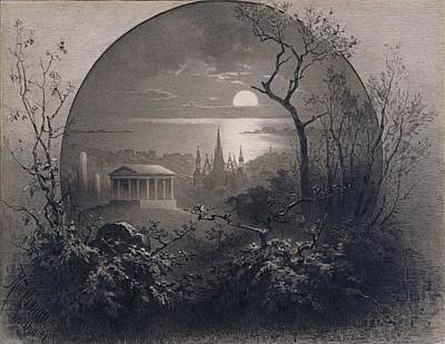 View From Greenwood Cemetery Print by Rudolph Cronau