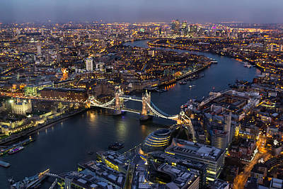 Tower Bridge Photograph - View From The Shard London by Ian Hufton