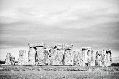 Lintels Photograph - View Of Circle Of Sarsen Stones With Lintel Stones Stonehenge Wiltshire England Uk by Joe Fox