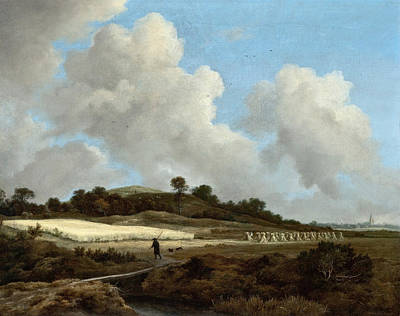 Wheat Painting - View Of Grainfields With A Distant Town by Jacob van Ruisdael