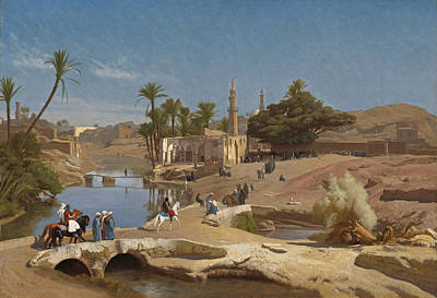 Jean-leon Gerome Painting - View Of Medinet El-fayoum by Jean-Leon Gerome
