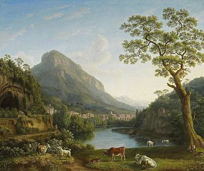 View Of Mulina In The Vally Of La Cava Art Print by Jacob Philipp