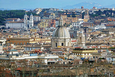 View Of Rome Italy From Atop Gianicolo Hill Art Print