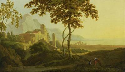 Morning Painting - View Of San Felice Circeo by Joseph Wright