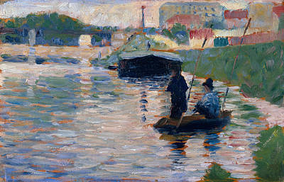 Marine Painting - View Of The Seine by Georges Seurat
