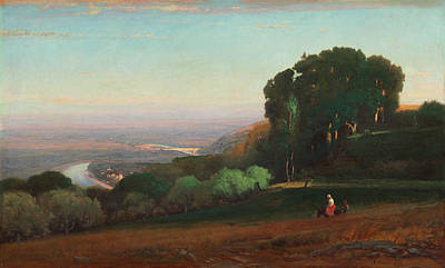 Countryside Painting - View Of The Tiber Near Perugia by George Inness
