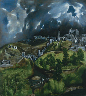 Mannerism Painting - View Of Toledo by El Greco