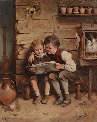 Chum Painting - Village Chums by Joseph Clark