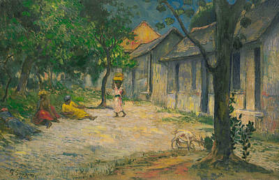 Antilles Painting - Village In Martinique by Paul Gauguin
