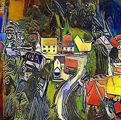 village - My WWW vikinek-art.com Art Print by Viktor Lebeda
