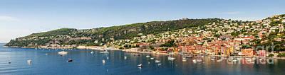Villefranche-sur-mer And Cap De Nice On French Riviera Print by Elena Elisseeva