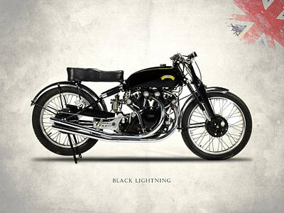 Lightning Photograph - Vincent Black Lightning by Mark Rogan