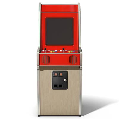 Vintage Arcade Machine Print by Allan Swart