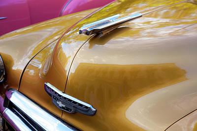 Photograph - Vintage Chevy Hood Ornament Havana Cuba by Charles Harden