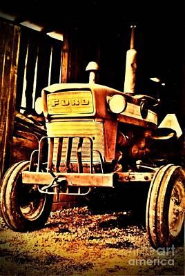 Vintage Ford Farm Tractor Art Print