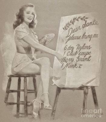 Vintage Pinup Art Print