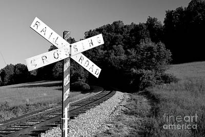 Photograph - Vintage Railroad Crossbuck by Ben Schumin