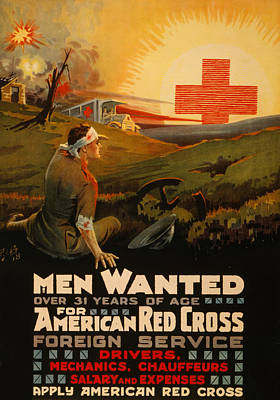 Painting - Vintage Red Cross by Vintage Pix