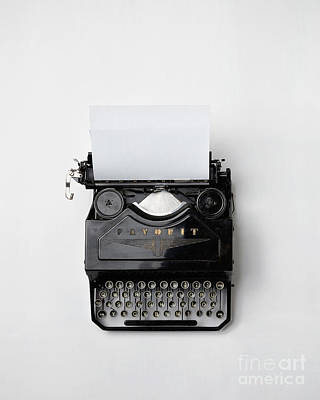 Photograph - Vintage Typewriter by Vintage Typewriter Flatlay