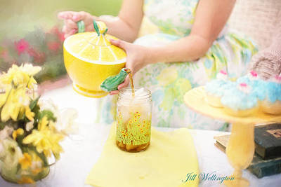 Digital Art - Vintage Val Iced Tea Time by Jill Wellington