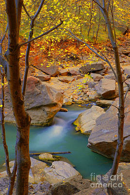 Virgin River In Autumn Art Print by Dennis Hammer
