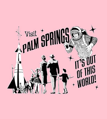 Visit Palm Springs Pink Original by Neo