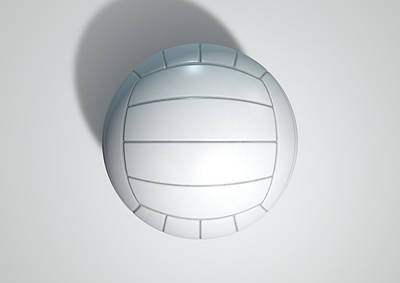 Volleyball Isolated Art Print