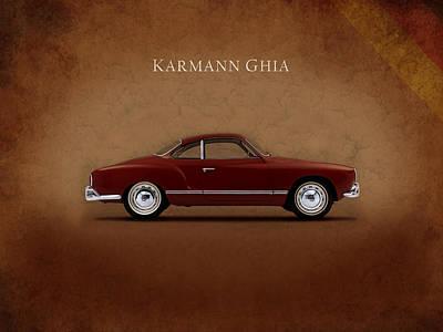 Volkswagen Beetle Photograph - Vw Karmann Ghia by Mark Rogan