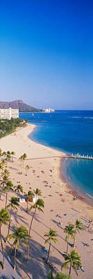 Diamond Head Photograph - Waikiki Beach And Diamond Head by Panoramic Images