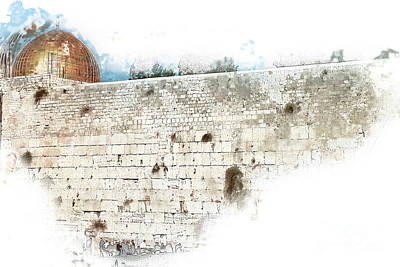 Digitally Manipulated Photograph - wailing wall and dome of the Rock by Humorous Quotes
