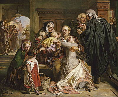 Acquittal Painting - Waiting For The Verdict by Abraham Solomon