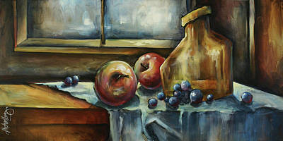 Table Cloth Painting - Waiting by Michael Lang