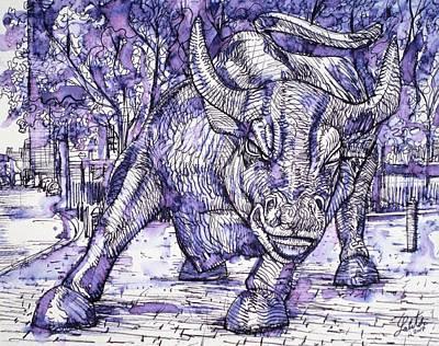 Painting - Wall Street Bull by Fabrizio Cassetta