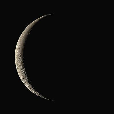 Waning Crescent Moon Art Print